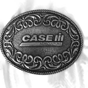 Case IH silver Belt Buckle
